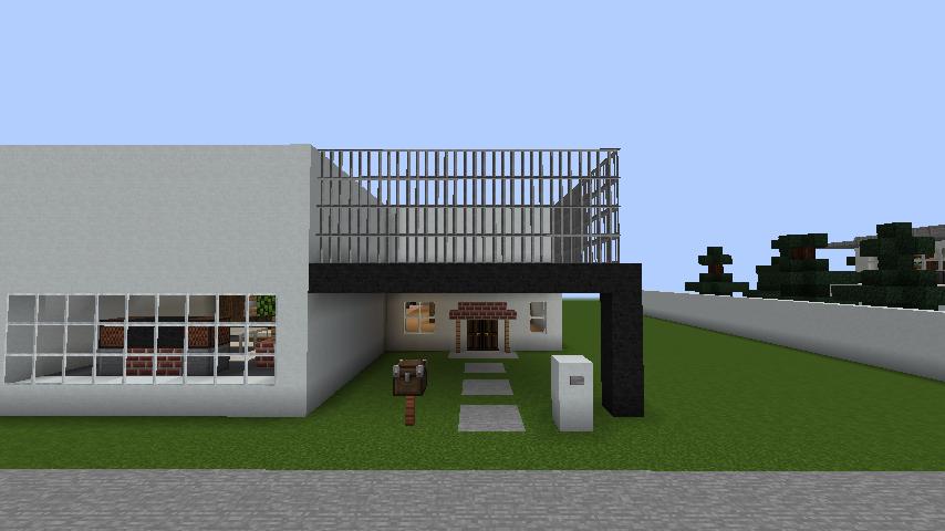 minecraft-house_41 現代建築 をマイクラでおしゃれに作れる!現代建築講座【設計図】