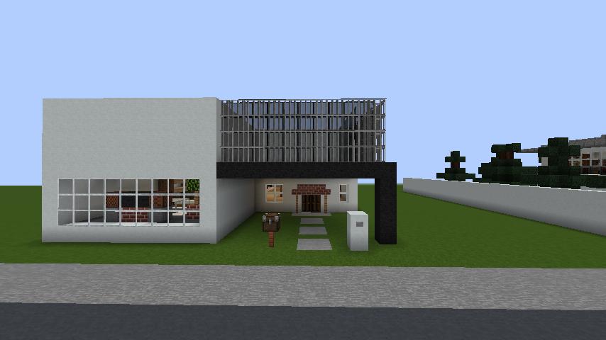 minecraft-house_42 現代建築 をマイクラでおしゃれに作れる!現代建築講座【設計図】