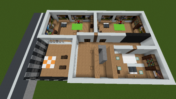 minecraft-house_48 現代建築 をマイクラでおしゃれに作れる!現代建築講座【設計図】