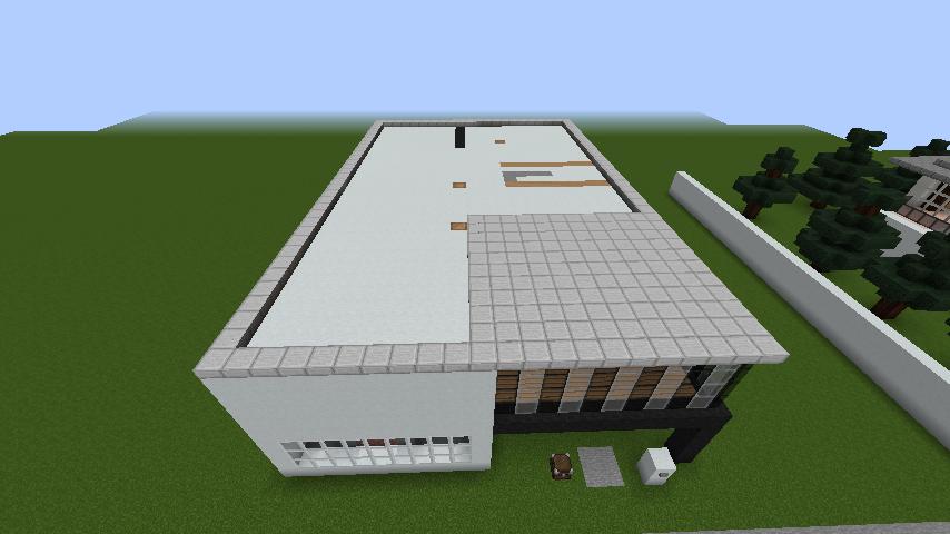 minecraft-house_53 現代建築 をマイクラでおしゃれに作れる!現代建築講座【設計図】
