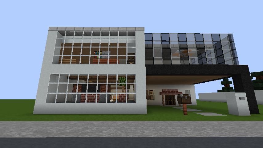 minecraft-house_60 現代建築 をマイクラでおしゃれに作れる!現代建築講座【設計図】