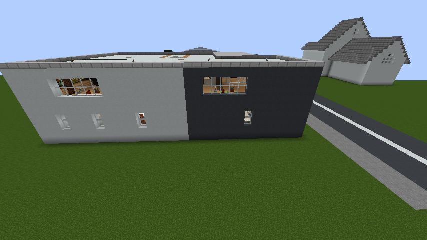 minecraft-house_76 現代建築 をマイクラでおしゃれに作れる!現代建築講座【設計図】