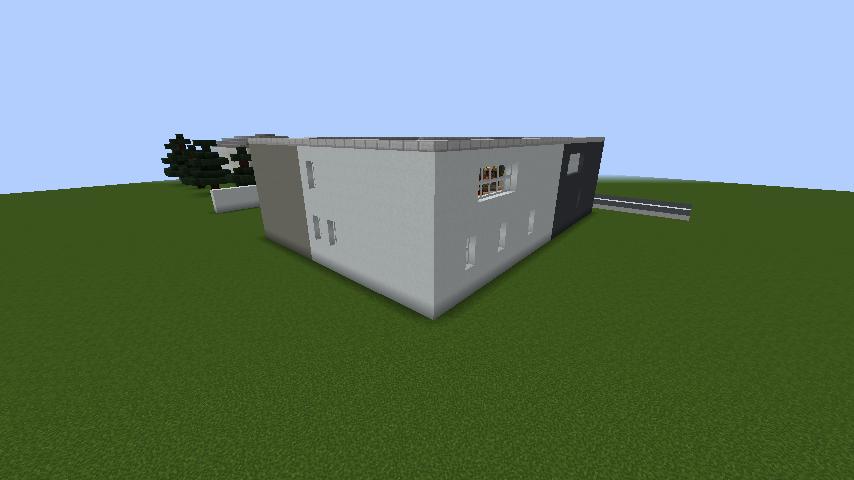minecraft-house_78 現代建築 をマイクラでおしゃれに作れる!現代建築講座【設計図】