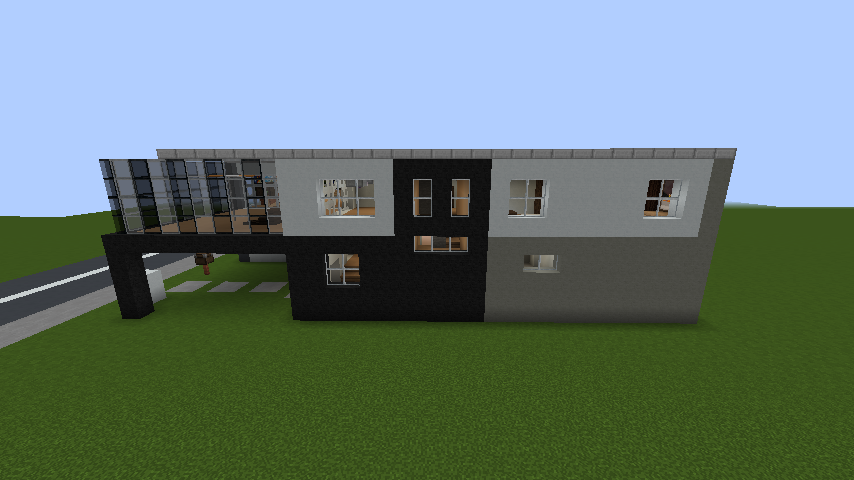 minecraft-house_79 現代建築 をマイクラでおしゃれに作れる!現代建築講座【設計図】