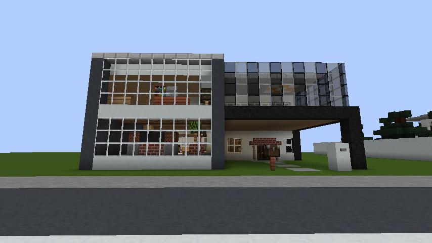 minecraft-house_81 現代建築 をマイクラでおしゃれに作れる!現代建築講座【設計図】