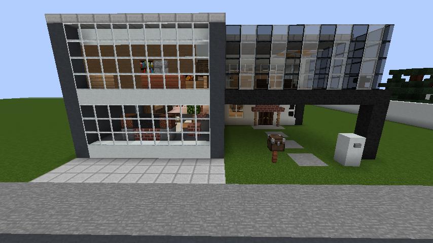 minecraft-house_82 現代建築 をマイクラでおしゃれに作れる!現代建築講座【設計図】