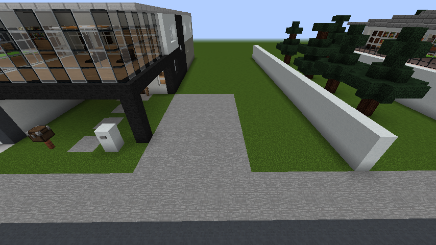 minecraft-house_83 現代建築 をマイクラでおしゃれに作れる!現代建築講座【設計図】