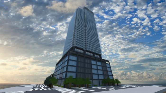 【マイクラ】ビルを楽にかっこよく作る!デザイン、建築方法、全部公開!【マイクラ家図鑑】