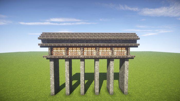 2020-03-05_22.19.55 【マイクラ】一工夫で完成度が段違い!和風な門の作り方