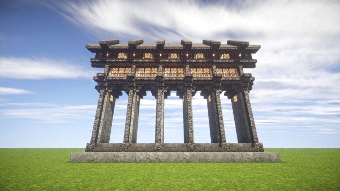 2020-03-05_23.07.34 【マイクラ】一工夫で完成度が段違い!和風な門の作り方